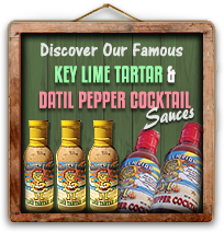 Discover The Golden Lion Cafe's Famous Key Lime Tartar and Datil Pepper Cocktail Sauces!